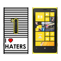 I Love Heart Haters - Snap On Case for Nokia Lumia 920