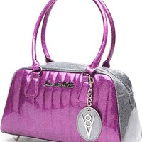 V8 [Electric Purple & Gun Metal Sparkle] Small | TOTE BAG