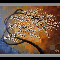 Original Contemporary Textured Tree of Life Painting Abstract  Landscape Ready to Hang 24x20 Fine Art