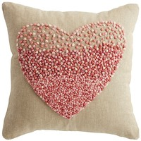 Ombre Heart Mini Pillow - Pink