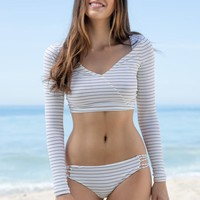 Billabong - Tan Lines Wrap Rashguard | Seashell