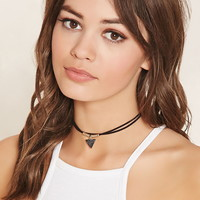 Triangle Pendant Layered Choker