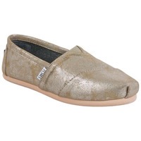 TOMS Classic Synthetic Leather Black Gold Sneaker