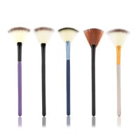 Slim Fan Shape Powder Concealor Finishing Highlighter Highlighting Makeup Brush Nail Art Brush for foundation Makeup