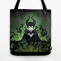 Maleficent 2014 Tote Bag by Katie Simpson | Society6