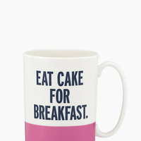 Kate Spade Things We Love Eat Cake For Breakfast Mug Multi ONE