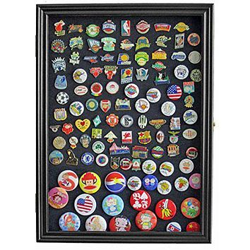 Flag Connections Display Case Wall Frame Cabinet for Military Medals, Pins, Patches