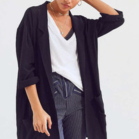 Silence + Noise Open Front Oversized Blazer   Urban Outfitters