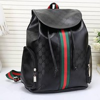 Best Gifts Gucci Women Leather Bookbag Shoulder Bag Handbag Backpack