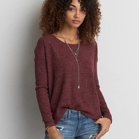 AEO Ribbed Jegging Sweater , Burgundy