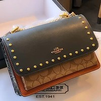 COACH Parker Vintage Studded Women's Chain Bag Shoulder Bag Crossbody Bag