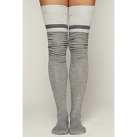 Tour The Town 3 Pack Thigh High Socks (Grey/Green/Burgundy)