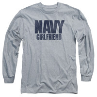 NAVY/GIRLFRIEND-L/S ADULT 18/1-ATHLETIC HEATHER