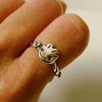 Guardians of the Galaxy Baby Groot Silver Ring  -I am Groot-