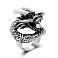 Gift Shiny New Arrival Vintage Men Titanium Korean Stylish Strong Character Jewelry Ring [6526799235]