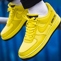 NIKE Air force 1 Low New fashion hook couple sports leisure shoes Yellow