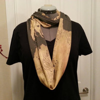 Game of Thrones inspired Infinity KNIT scarf - made to order