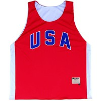 USA Red and White Basketball Reversible