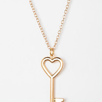 Urban Outfitters - Urban Renewal Key To My Heart Necklace