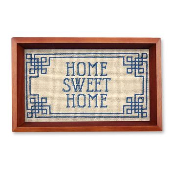 Home Sweet Home Needlepoint Valet Tray by Smathers & Branson