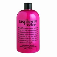 philosophy 3-in-1 ultra rich shampoo, shower gel & bubble bath, raspberry sorbet