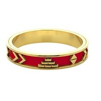 Aztec Bangle with Red Leather