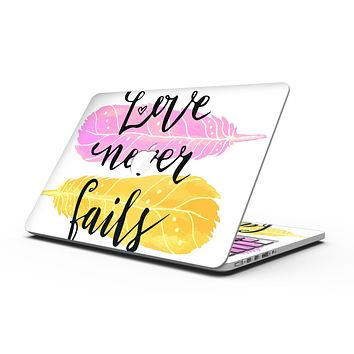 Yellow and Pink Love Never Fails - MacBook Pro with Retina Display Full-Coverage Skin Kit