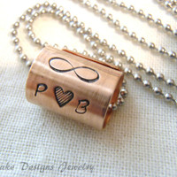 Infinity necklace personalize initials couple necklace