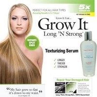 Long N Strong 2-in1 Anti-Frizz and Anti-Breakage Serum! Leave-in Texturizing Serum Repairs Hair and Helps Grow Hair Longer and Stronger, Relax Frizzy, Hair for All Hair Types