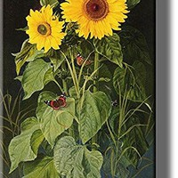 Sunflowers Picture by Fristrup on Stretched Canvas, Wall Art Decor, Ready to Hang!