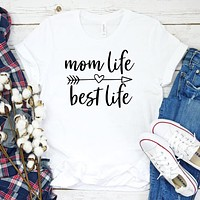 mom life best life mother clothes women t-shirts plus size