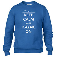 Keep Calm and Kayak On Crewneck sweatshirt