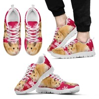 Syrian Hamster Print (Black/White) Running Shoes For Men-Free Shipping Limited Edition