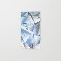 shattered sparkly ice Hand & Bath Towel by Bunny Noir