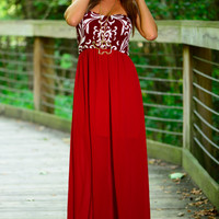 Better To Stay Maxi, Burgundy/Black