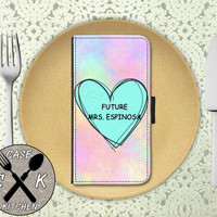 Future Mrs. Espinosa Pastel Tumblr Candy Heart Cute Nashty Custom Wallet Phone Case For The iPhone 4 and 4s and iPhone 5 and 5s and 5c