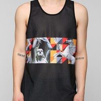 Geo Statues Mesh Tank Top - Urban Outfitters