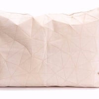 White + Beige Origami Pillow