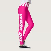 Work Out in Bright Pink and White - DIY Color Leggings