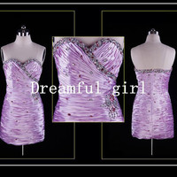 2013  hot sale with beading pleated for a party cocktail dress and party dress /prom dress