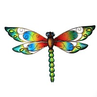 Home & Garden DRAGONFLY WALL DECOR Metal Insect Bug 10829