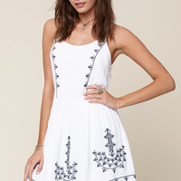 Me To We Embroidered Babydoll Dress at PacSun.com