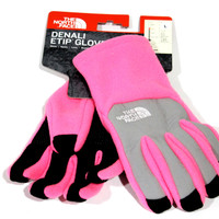 The North Face Girl's Denali Etip Gem Pink Gloves