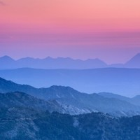 """""""Mountain dreams"""". At sunset. Art Print by Guido Montañés"""