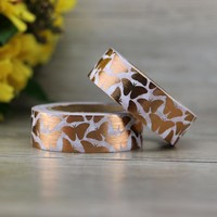 Golden Foil Washi Tape Butterfly Japanese Stationery 1.5cm*10m Kawaii Stickers Scrapbooking Tools Masking Tape Diy Photo Album
