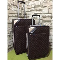 Louis Vuitton LV Luggage Bag Travel Bag Fashion Big Bag Print Tote Handbag Draw bar box