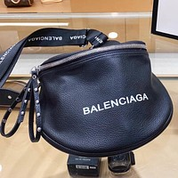 Balenciaga New fashion letter print shoulder bag crossbody bag Black
