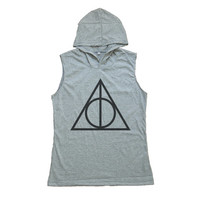 Deathly Hallows Shirt Harry Potter Tank Top Sleeveless Hoodie T-shirt Women T Shirts Size S M