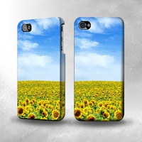 S0232 Sunflower Full Wrap Case Cover for Iphone 5, 5S, 5C, 4, 4S