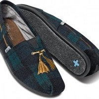 TOMS+ Green Plaid Faux Tassel Tartan Men's Classics